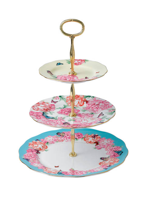 Royal Albert 3 Tier Mixed Patterns Cake Stand