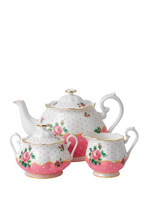 Royal Albert Cheeky Pink 3 Piece Set (Teapot,