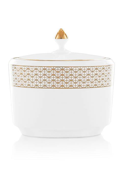 Lismore Diamond Gold Sugar Bowl