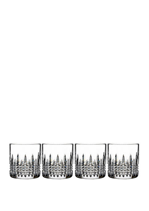 Lismore Connoisseur Set of 4 7 Ounce Diamond Straight Sided Tumblers