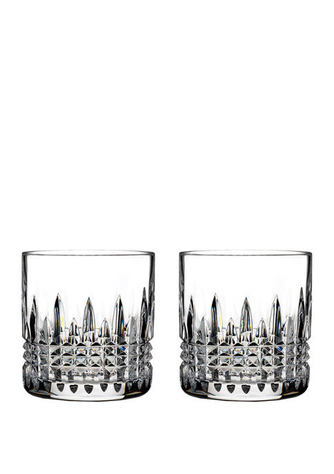 Lismore Connoisseur Set of 2 7 Ounce Diamond Straight Sided Tumblers