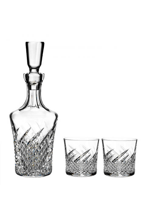 Wild Atlantic Way Decanter with Set of 2 Rock Glasses