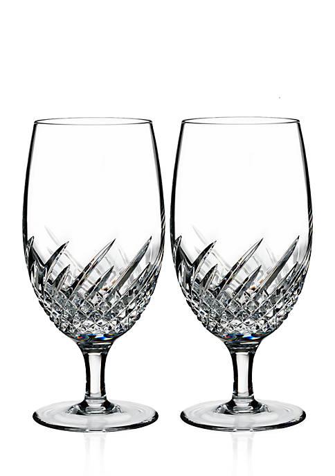 Wave Set of 2 Iced Beverage Glasses