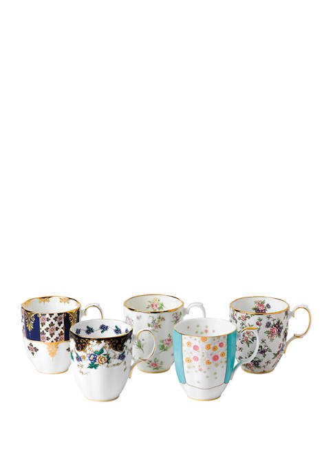 Set of 5 100 Years Mug Set