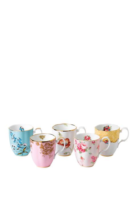 Set of 5 100 Year Mug Set