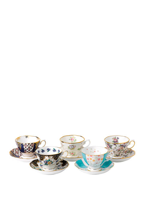 10-Piece 100 Years Teacup and Saucer Set