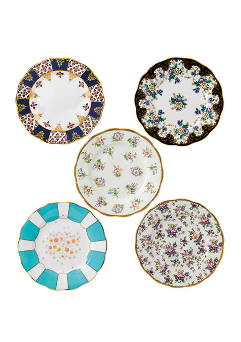 8 Inch 100 Years 1900-1940 Set of 5 Plates