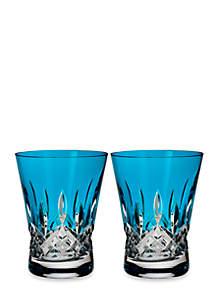 Lismore Pops Aqua Double Old Fashion, Set of 2