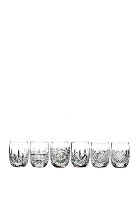 Set of 6 Lismore Connoisseur Heritage Rounded Tumblers