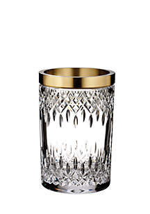 Lismore Reflection With Gold Band Vase