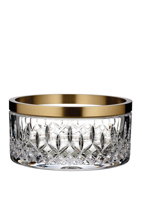 Waterford 8 Inch Lismore Reflection Bowl with Gold