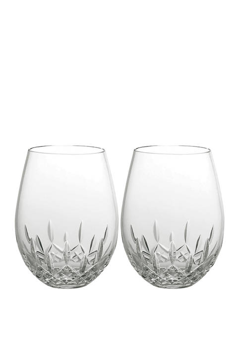 Waterford Set of 2 Giftology Lismore Nouveau Red