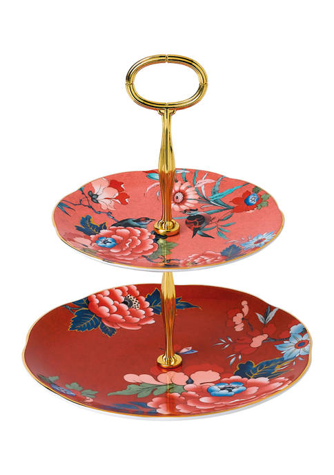 Paeonia Blush Cake Stand Two-Tier