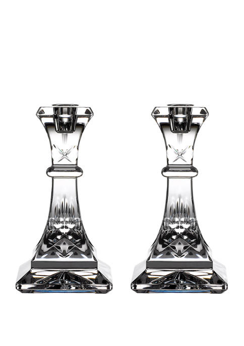 Waterford 6 Inch Lismore Candlestick Pair