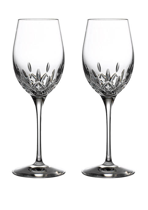 Set of 2 Lismore Essence White Whine Glasses