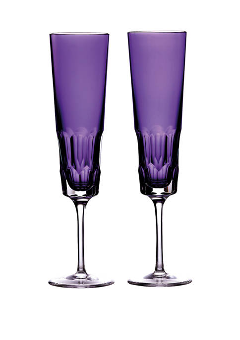 Waterford Set of 2 Amethyst Icon Flutes