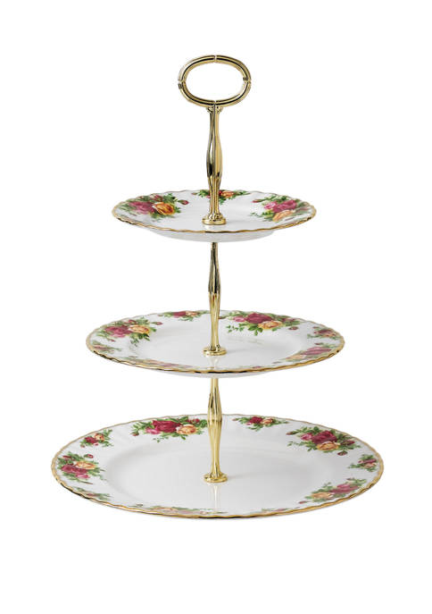 Royal Albert 3 Tier Old Country Roses Cake