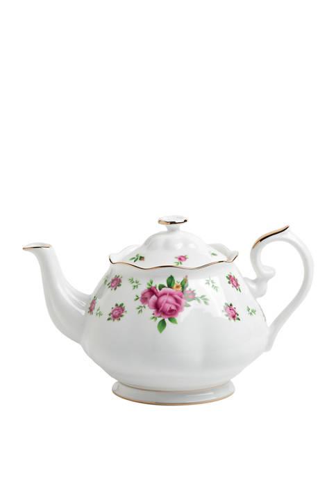 Royal Albert New Country Roses White Teapot