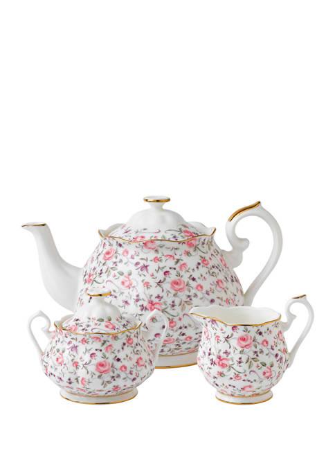 3 Piece Rose Confetti Tea Set
