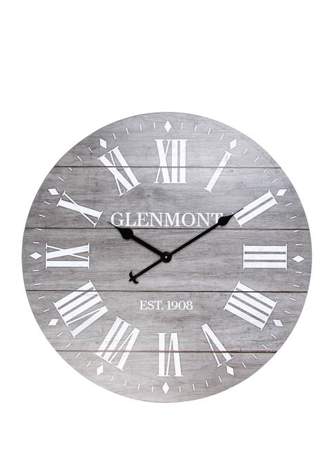 28 Inch Grey Washed Roman Numeral Clock