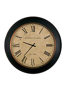 24-in. Brown Roman Numeral Glemont Clock