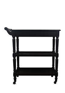 Rolling Bar Cart with Open Storage