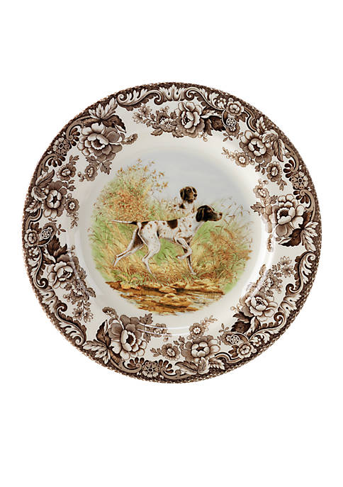 Spode Woodland Flat Coated Pointer Dinner