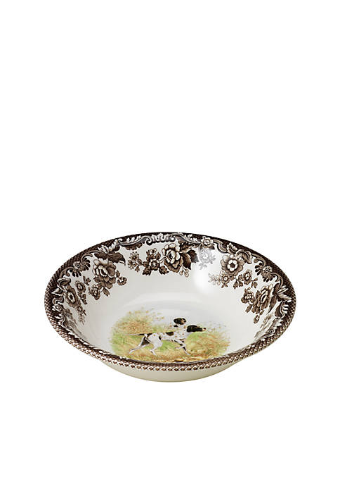 Spode Woodland Flat Coated Pointer Cereal