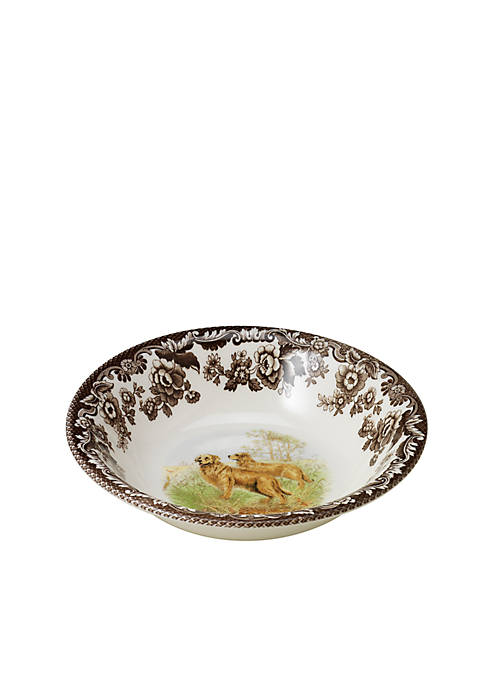 Spode Woodland Golden Retriever Cereal