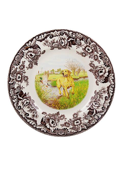 Woodland Yellow Lab Dinner Plate