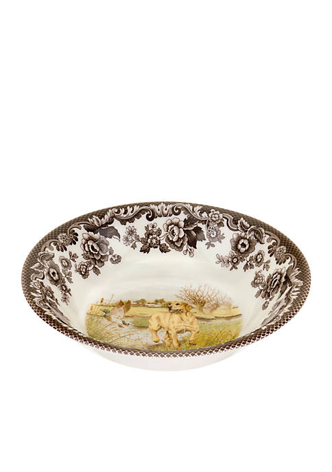 Spode Woodland Yellow Lab Cereal Bowl