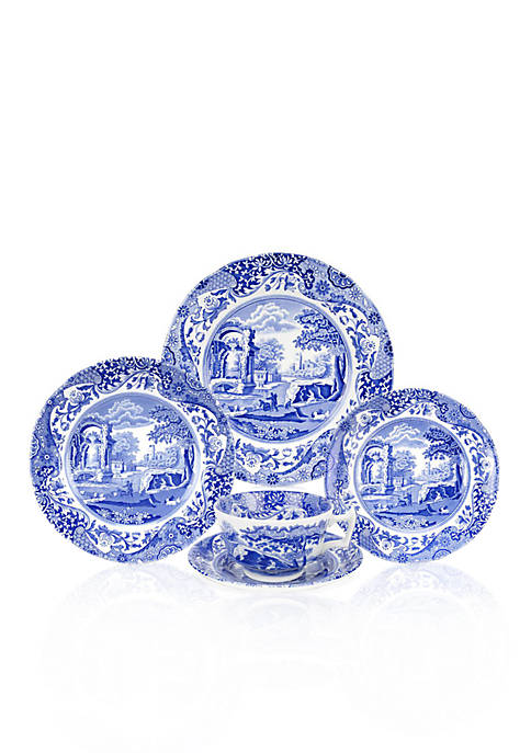 Spode Blue Italian 5-Piece Place Setting with Bread