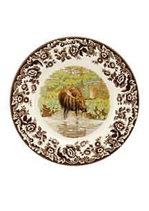 Woodland Moose Salad Plate