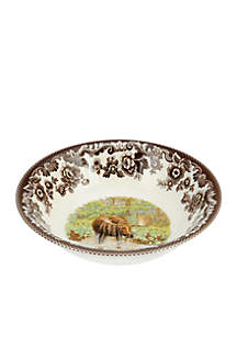 Spode Woodland Moose Ascot Cereal Bowl