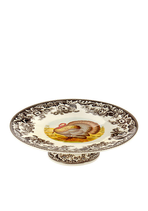 Spode Woodland Footed Cake Plate