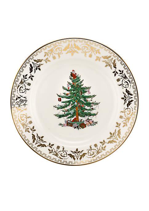 Spode Christmas Tree Gold Dinner Plate 10-in.