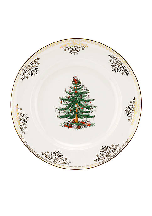 Spode Christmas Tree Gold Collection Salad Plate 8-in.