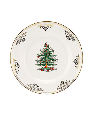 Spode Christmas Plates.Christmas Tree Gold Collection Salad Plate 8 In
