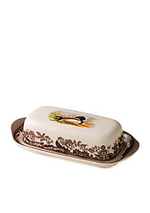 Woodland Mallard Covered Butter Dish
