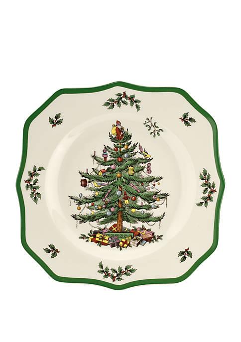 Spode Square Scalloped Dinner Plate