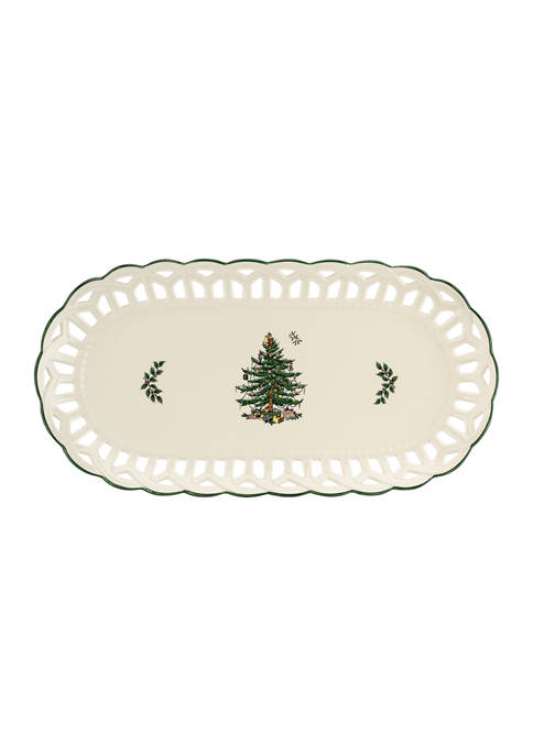 Christmas Tree Pierced Sandwich Tray