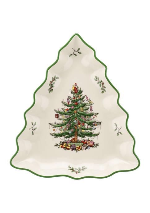 Spode Christmas Tree Tree Shaped Dish