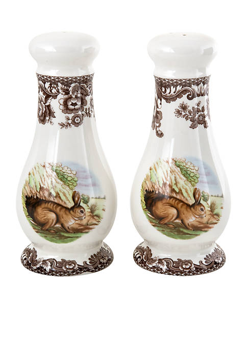 Spode Woodland Rabbit Salt & Pepper Shakers
