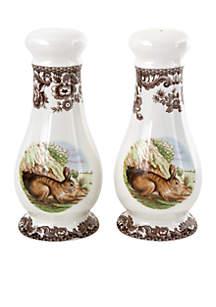 Spode Woodland Rabbit Salt & Pepper Shakers