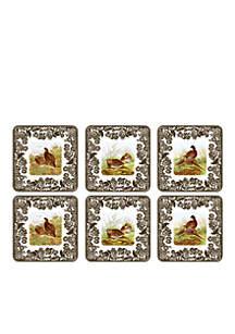 Woodland Set of 6 Coasters