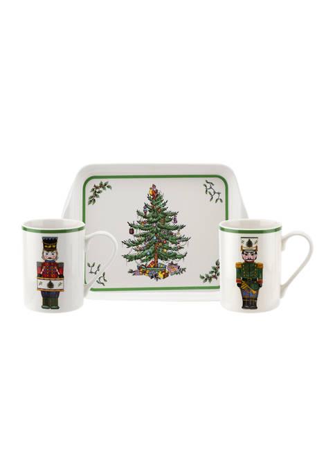 Spode Christmas Tree 3 Piece Mug and Tray