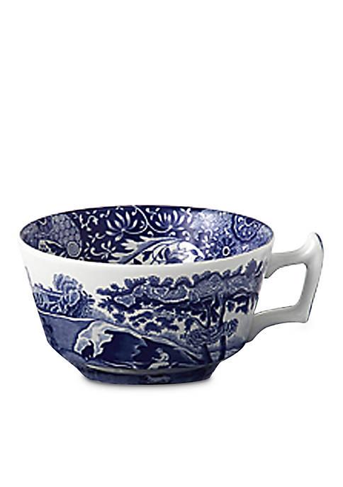 Blue Italian Tea Cup & Saucer