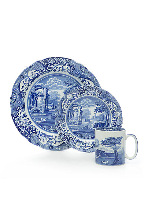 Blue Italian 12-pc. Dinnerware Set