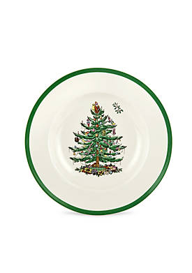 Christmas Tree Rim Soup Bowl - 9-in.