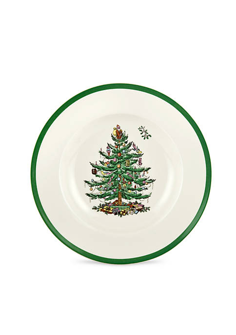 Spode Christmas Tree Rim Soup Bowl